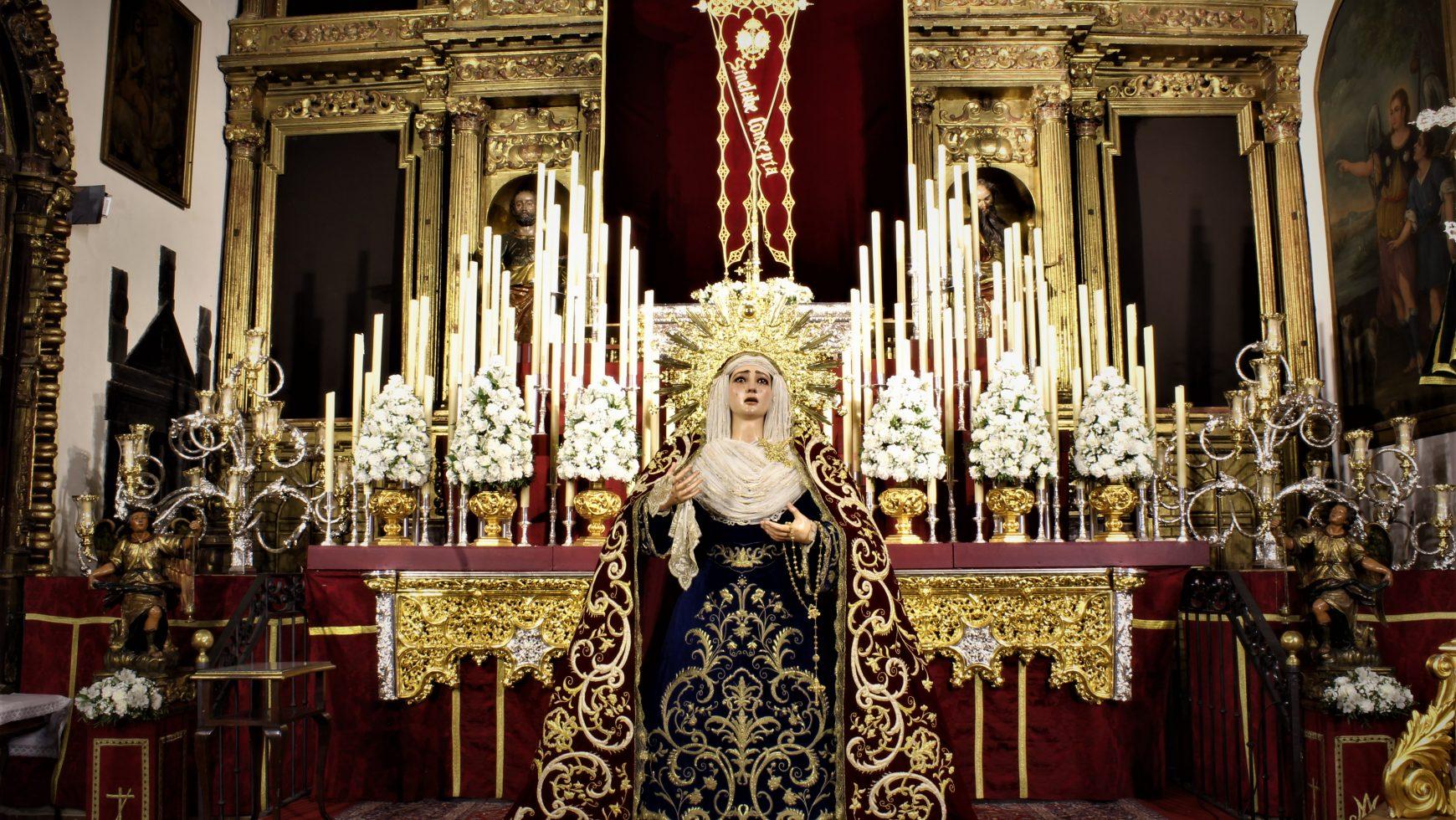 Repuesta al culto la imagen de Nuestra Señora de Guía tras su restauración