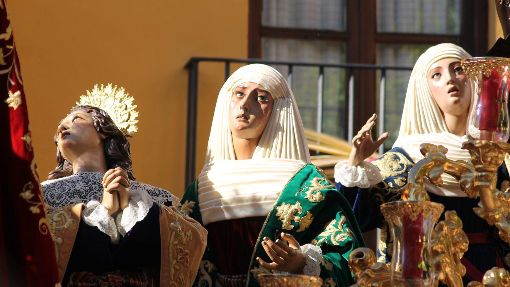 El conjunto escultórico de las Tres Marías acompañará al Cristo de los Desamparados durante sus cultos