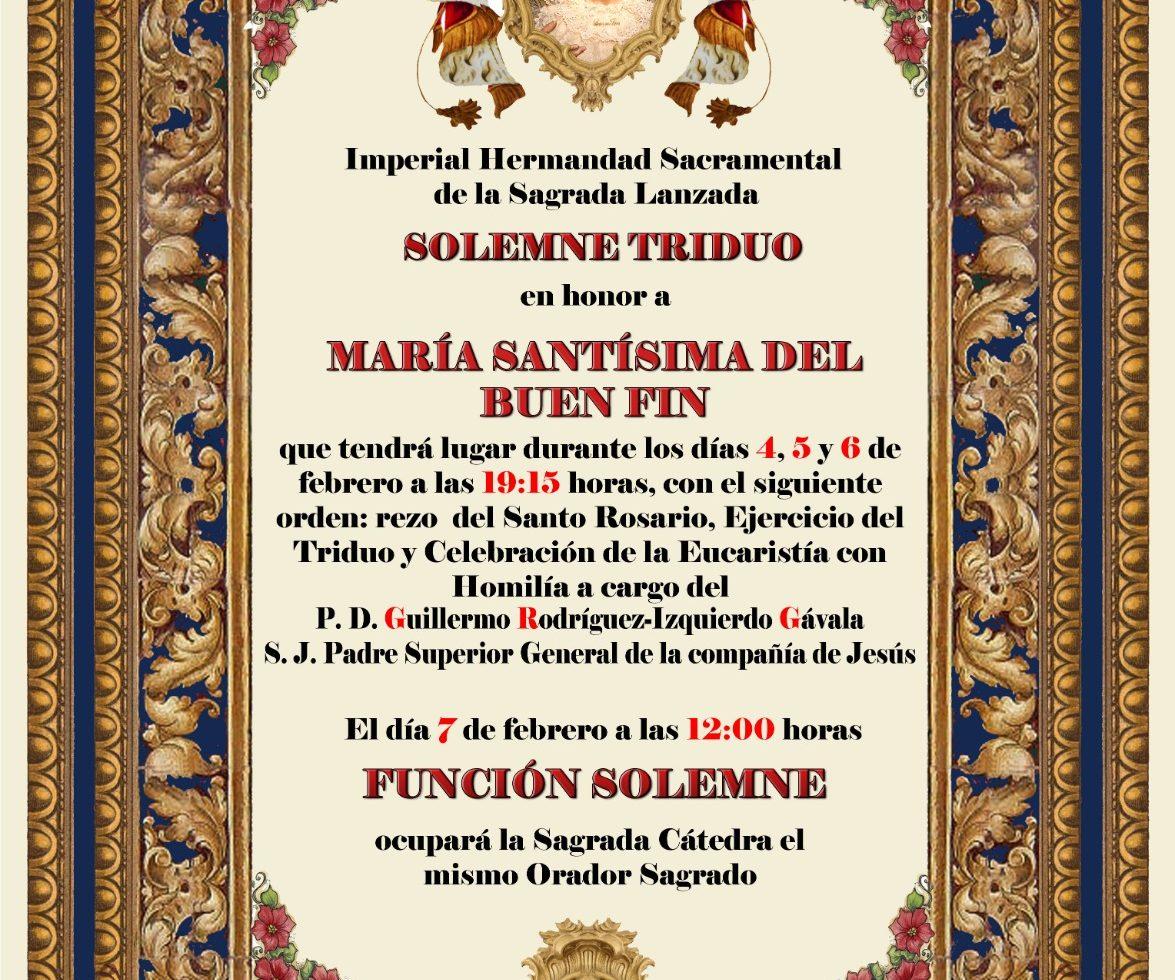 Triduo en honor a María Santísima del Buen Fin