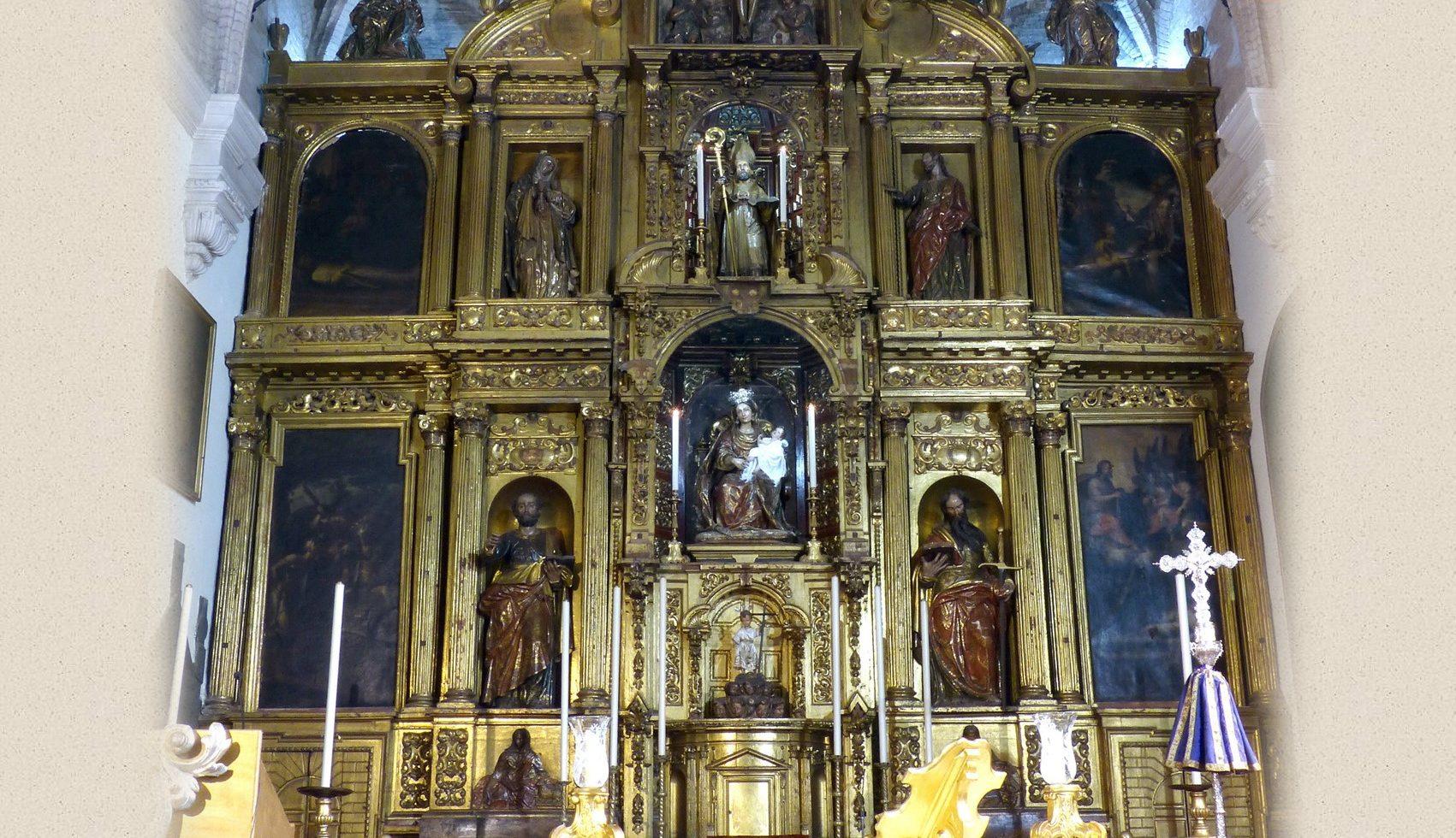 Exposición sobre la restauración de los lienzos del retablo mayor de San Martín
