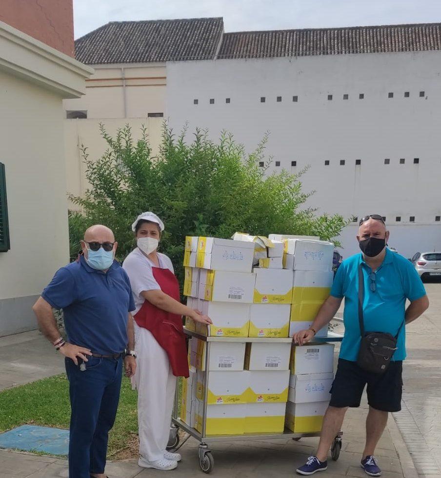 Reparto extraordinario de alimentos de la Diputación de Caridad