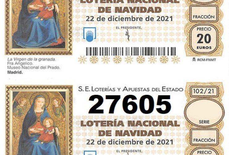A la venta la Lotería de Navidad de la Hermandad